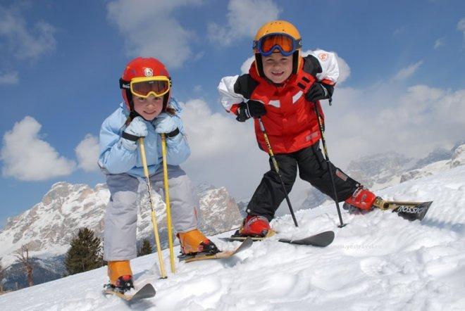 Дети и горнолыжный спорт в Австрии